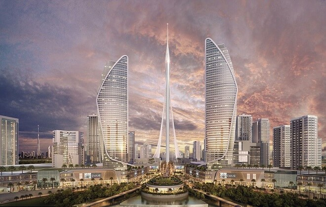 creek tower dubai ingebime bureau d etudes paris france